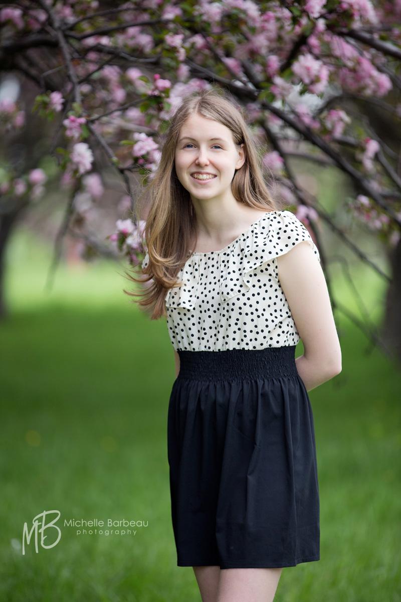 Spring blossom portrait
