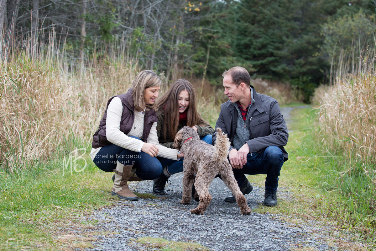 Kanata family with pet dog