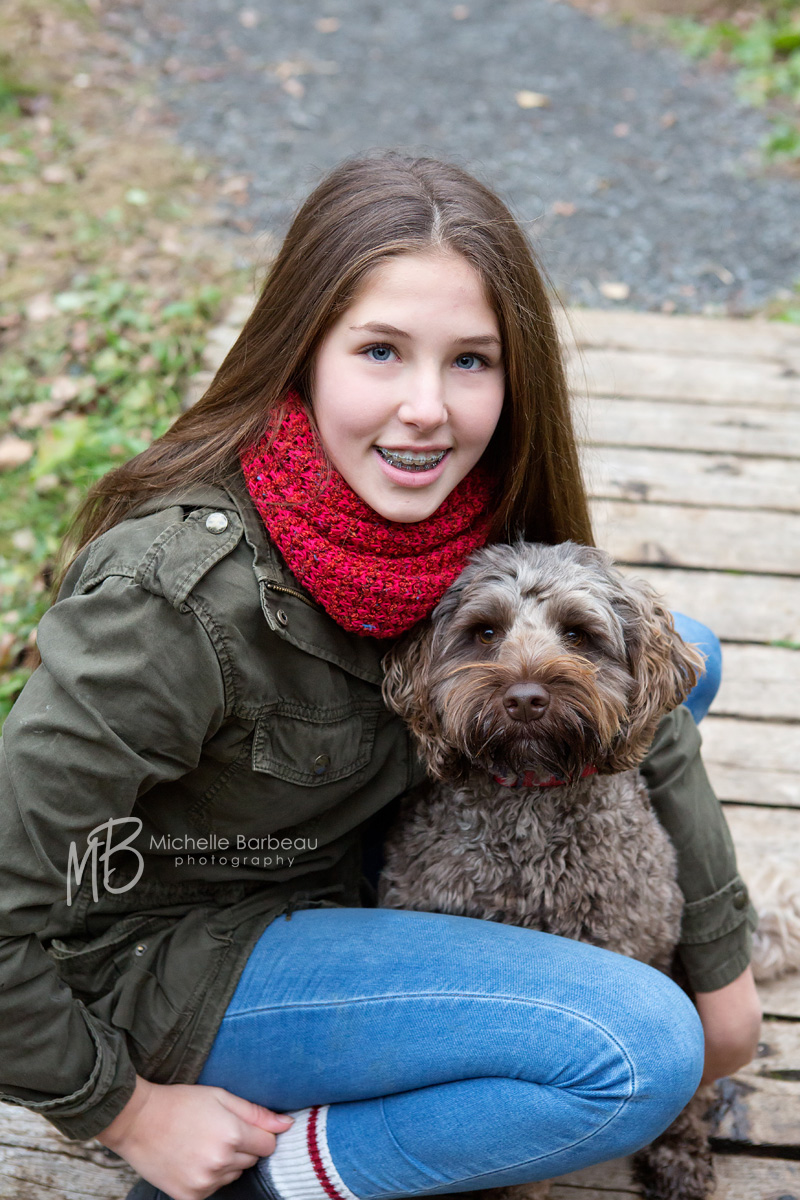 kanata teen with dog