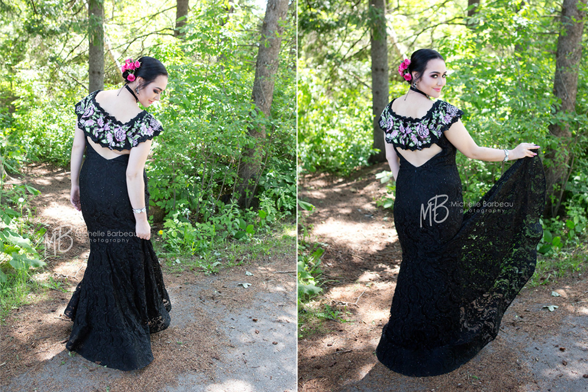 prom dress photography