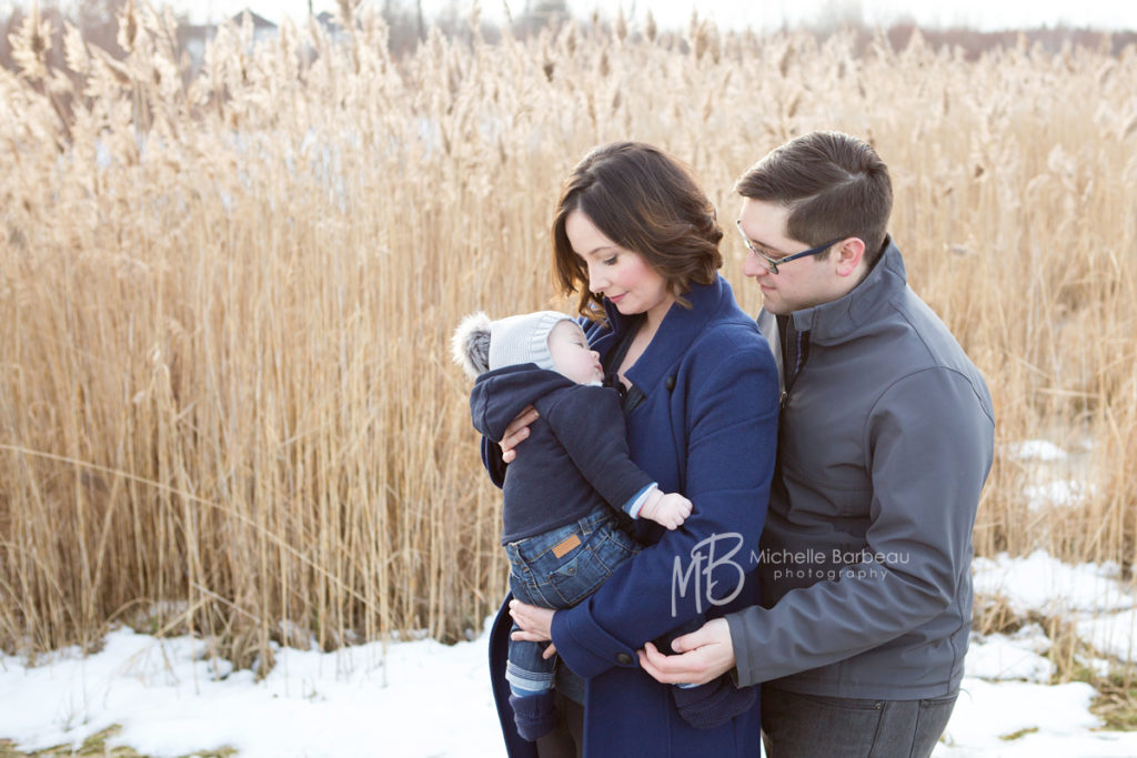 Pioneer Plains Park in Stittsville, winter family photos