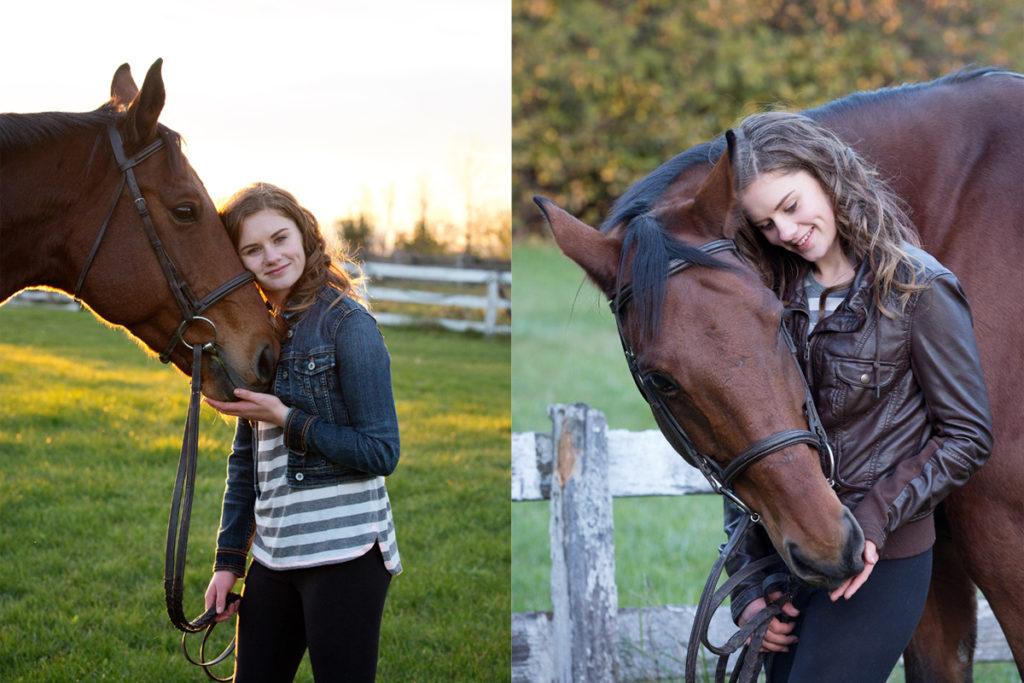 teen with horse photos